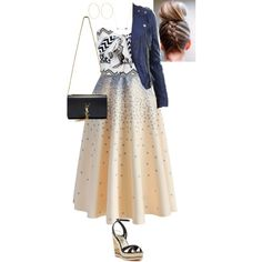 Untitled #374 by stinze on Polyvore featuring Don't Ask Amanda, Chicwish, Bebe, Yves Saint Laurent, Kenneth Jay Lane and Casa Reale