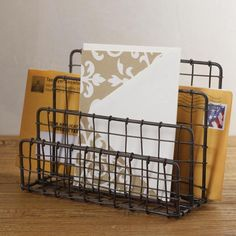 Love this vintage look for desk organizing accessories from See Jane Work.