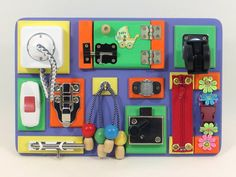 Travel busy board Sensory activity wood toy Baby busy board toddler Fine motor board Special needs Board with locks Fidget board Wood Gift Interactive busy boards are fun and educational – the perfect pastime for children of all ages! Exploring the various colors, textures, and