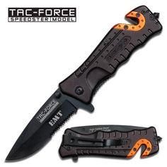 """TAC FORCE """"HOOK"""" EMT-EMS RESCUE FOLDING KNIFE and FREE EMT BASEBALL CAP!"""