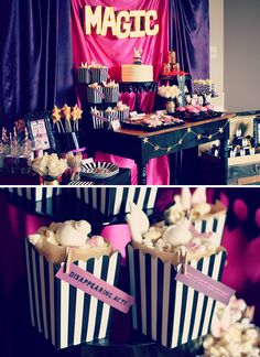 Sparkly, Pink & Vintage Magic Party // Hostess with the Mostess®