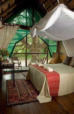 Kosi Forest Lodge, KwaZulu-Natal, South Africa. I wouldn't mind living in a room like this permanently.