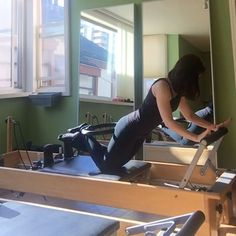 This is my first time back on a reformer since having major surgery 5 weeks ago.  I am sort of cleared to do these things! Watching everyone has been a total inspiration and was super motivating to create new movement. This was inspired by @efpilates who did a floor version. I used a red spring and had my ankles crossed.  The round back pressing into the circle was a great way to connect to the upper abs. ✨✨✨✨✨✨✨✨✨✨