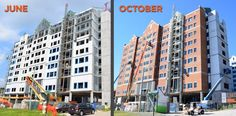June 2015 to October 15 brought lots of exciting changes for the new residence hall!