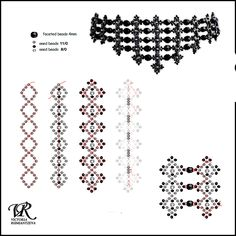 Free pattern for amazing beaded necklace Black Swan by Viktoria Rumiantzeva For this necklace u mus Beading Patterns Free, Beading Tutorials, Free Pattern, Beaded Necklace Patterns, Beaded Choker, Beaded Necklaces, Seed Bead Bracelets, Seed Bead Jewelry, Diy Collier