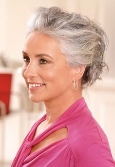 Gray hair don't care. Salt and pepper gray hair. Pelo Color Plata, Grey Hair Journey, Silver Haired Beauties, Silver White Hair, Grey Blonde Hair, Ageless Beauty, Great Hair, Hair Today, Hair Inspiration