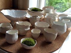Airdry clay pots by Ida Dyhr, Copenhagen 2015