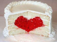 Heart Cake Tutorial {Surprise Inside Cake} - i am baker Valentine Love, Valentines Day Cakes, Valentine Ideas, Valentines Recipes, Valentines Surprise, Food Cakes, Chocolate Fruits, Cake Heart, Surprise Inside Cake
