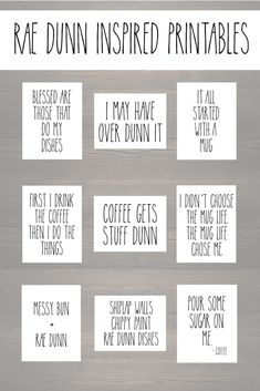 Free Rae Dunn inspired printables – for the rae dunn fanatics! Free Rae Dunn inspired printables – for the rae dunn fanatics!