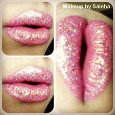 GLITTER LIPS!! #glitter