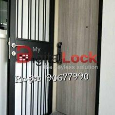 MyDigitalLock selling Samsung Digital Lock for HDB Door and Condo Laminate Door unlock Using Smartphone and WI-FI in Singapore / Bukit Batok / 9161 6282 Digital Lock, Door Gate, Door Locks, Smart Home, Singapore, Wifi, Locker Storage, Samsung, Doors