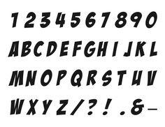 Superhero Font - Alphabet