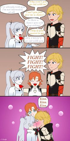 This joke. This short comic took longer than I wanted. The original sketches of Weiss and Jaune were meant to be used for something else, I changed my m. WhiteKnight - In a Nutshell Randowis Comics, Comics Story, Cute Comics, Rwby Anime, Rwby Fanart, Fanarts Anime, Anime Harem, Rwby Jaune, Rwby Rose