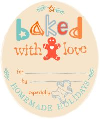 """Free printable gift tags! Nothing says """"you're special to me"""" like giving the gift of homemade food. Download our printable gift tags to add the perfect finishing touch to your homemade gift. (Tip: Print the labels on card stock, punch a hole in the corner of the card and attach with a ribbon, or print the labels as stickers, cut them out and adhere them to the sugar scrub container.)"""
