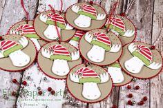 Stampin up - Weihnachtliche Geschenkanhänger, gift tag christmas, Jolly Friends, Elementstanze Weihnachtsmütze - Fine Paper Arts