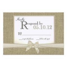 Discount DealsRustic Bow and Burlap Wedding Response Personalized Invitationwe are given they also recommend where is the best to buy