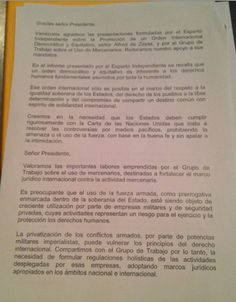 Statement by about my report to the United Nations ( Human Rights Council - Page 2 United Nations Human Rights, Human Rights Council, This Or That Questions, Venezuela