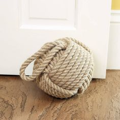 Nautical Jute Door Stop. Large monkeys fist knot in rope. affiliate link