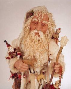 Sometimes a Santa face can look too OLD.....  judith klawitter dolls - Google Search