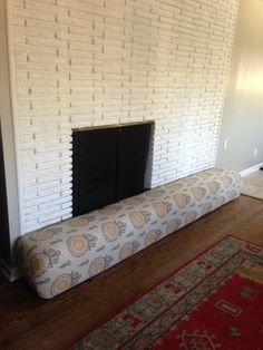 Baby Proof Fireplace By Turning Into A Couch And Put Glass In The