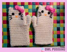 Crochet Hello Kitty Mittens by Ashler-Sauce.deviantart.com on @deviantART