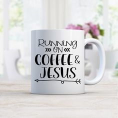 Running on Coffee and Jesus MUG - Kalilaine Creations