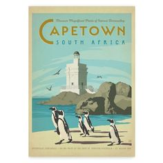 The Travel Tester vintage travel poster collection. It's time to get nostalgic with this week's retro destination: Vintage Travel Posters South Africa Old Poster, Retro Poster, Vintage Advertisements, Vintage Ads, Vintage Prints, Afrique Art, Tourism Poster, Poster Design, Graphic Design