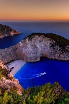 Navagio Beach or Shipwreck Beach, Zakynthos, Greece