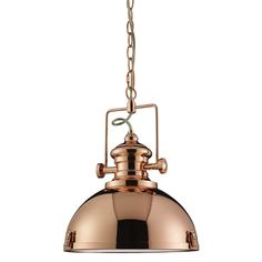2297CO Industrial Copper Pendant Ceiling light from Lights 4 Living