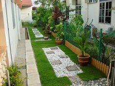 Making small and low budget landscape in backyard | Backyard ...