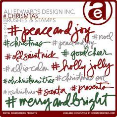 Pound # Christmas Brushes and Stamps - Photoshop Brushes DesignerDigitals