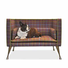 Luxury tartan dog bed by Savoir Tartan, Interior Architecture, Interior Design, Pet Furniture, Elle Decor, Dog Bed, Decoration, Luxury Bedding, Shelter