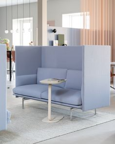 The Outline Highback Sofa combines the soft, deep seat and clean refined lines of Outline with a highback element, allowing for the design to create private spheres within bigger spaces and provide shelter for conversation and collaboration. The design has a timeless yet modern expression that makes it an ideal fit in any open-plan space, hospitality setting, workplace or public area. #scandinaviandesign #homedecor #muutodesign Scandinavian Interior Design, Scandinavian Living, Sofa Chair, Interior Inspiration, Decorating Your Home, Love Seat, Ideal Fit, Living Room, Open Plan