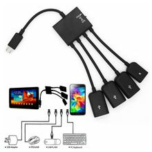 Multi-function USB 2.0 4 in 1 Micro USB Host OTG Charge Hub Cord Adapter Splitter for Android Smartphones Tablet Black Cable //Price: $US $3.29 & FREE Shipping //   #gloves #decor #dresses #skirts #pants #tshirts