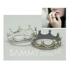$1.44 Fashion and Vintage Style Crown Shape Design Finger Ring