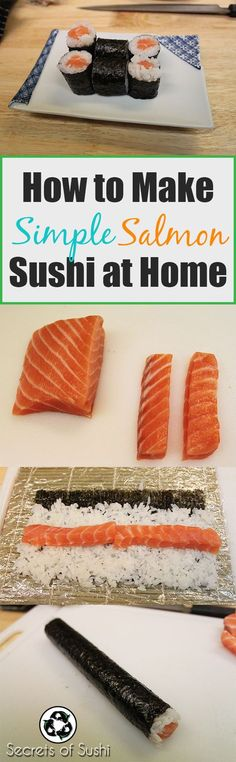 Learn how to make a simple, yet delicious Salmon Roll at home. Healthy, fast, and fun! Who doesn't LOVE sushi?