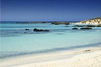 Crete, Falassarna beach. The Falassarna beach was awarded best beach of Crete and among the best beaches of Europe. It is 60 kilometres west of Chania on the north west coast. It has soft golden sands and incredible clean and shallow waters.