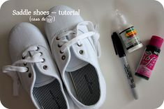 How to make your own Saddle shoes for play or dress-up.