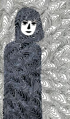Negative Contour Study by Hanna Lefcourt, via Behance