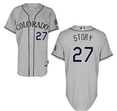 7a130fced Men s Colorado Rockies  27 Trevor Story Gray Road Stitched Baseball Jersey  Baseball Pants