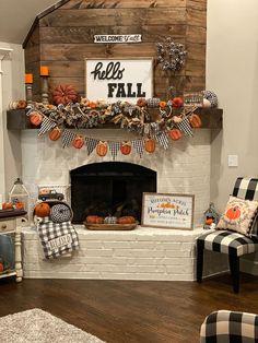 Fall Fireplace Decor, Fall Room Decor, Dyi Fall Decor, Fall Apartment Decor, Country Fall Decor, Fall Yard Decor, Vintage Fall Decor, Thanksgiving Decorations, Seasonal Decor