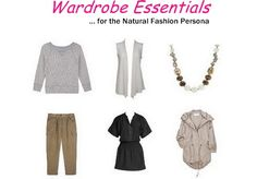 Closet essentials for the Natural fashion persona/Casual-sporty clothing personality