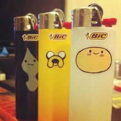 Adventure time bic lighters