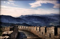 Great Wall of China (by Deus Ex Machina Great Wall Of China, China Wall, China China, Ex Machina, Fortification, Places To Go, Around The Worlds, Mountains, Bucket