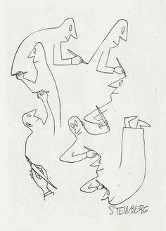 "b22-design: "" Saul Steinberg - 1950s """