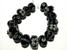 SOLD! 9PA 16 Handmade Glass Lampwork Rondelle Beads. Starting at $5 on Tophatter.com!  tophatter.com/auctions/38425
