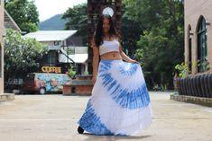 Boho Skirt / Maxi Skirt / Maxi Boho Skirt /Modest Skirt / Beach Skirt /Full Length skirt / Tie Dye Skirt/ Long Skirt Modest Skirts, Boho Skirts, Full Length Skirts, Beach Skirt, Beach Tops, Cotton Skirt, Soft Light, Boho Tops, Summer Looks