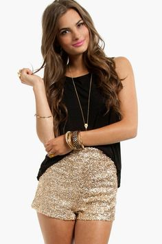 gold shorts for NYE