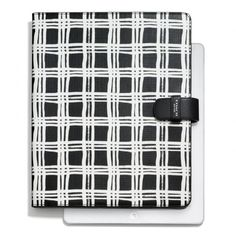The Bleecker Ipad Folio In Painted Plaid Print from Coach