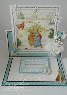 Easel Cards, 3d Cards, Crafters Companion Cards, Peter Rabbit, Beatrix Potter, Christmas Cards, Projects To Try, Decorative Boxes, Paper Crafts